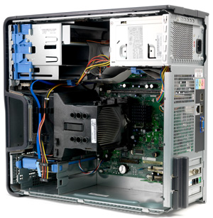 Desktop Computer With Side Panel Removed